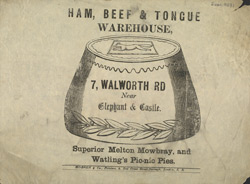 Advert for the Ham, Beef & Tongue Warehouse
